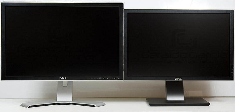 2407WFP -HC (esquerda) e 2209WA (direita)